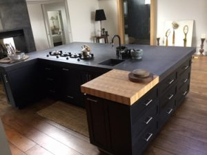 Kitchen benchtop joinery project completed by Wood Solutions