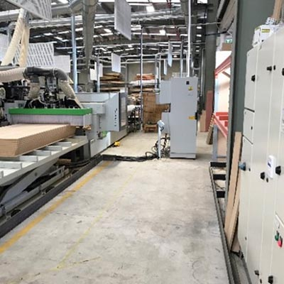 Biesse flatbed CNC router.